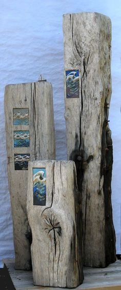 ideas for clay or glass pieces . Hastings-Sea-Stumps