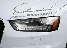 Sports mind Powered by Motorsport car Vinyl Decal sticker emblem SILVER #natash777