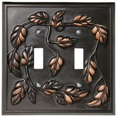 montage leaf 2gang aged bronze standard toggle metal wall plate loweu0027s canada
