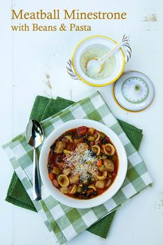 Italian Food Forever » Meatball Minestrone Soup