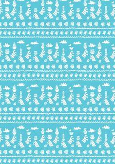 Lovely boats pattern by Melanie Chadwick.