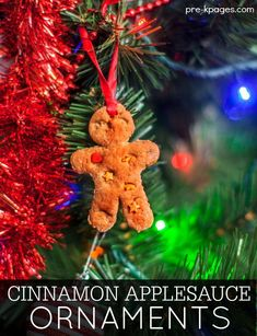 No Cook Cinnamon Applesauce Ornament Recipe Kids Can Make. Printable recipe for easy DIY cinnamon applesauce ornaments kids can make for Christmas at home or in the classroom. Kids Christmas Ornaments, Christmas Activities For Kids, Preschool Christmas, Preschool Crafts, Christmas Themes, Holiday Crafts, Christmas Holidays, Preschool Classroom, Preschool Ideas