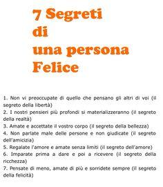 7 segreti di una persona felice