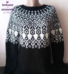 Icelandic Wool Sweater Kids Adults Nordicstyle Knit Pullover Fairisle Handmade Made To Order