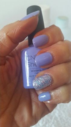 CND Wisteria Haze with Goddess Glitter