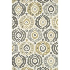 Alexander Home Hand-hooked Charlotte Ivory/ Multi Rug (7'6 x 9'6) (Navy/ Multi (7'6 x 9'6)), Gold