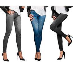 4016471060142 | #TV #Unser #Original #Veronas #Dreams #Slim #Jeans #Leggings #Damen, 3er-Set, #Gr. #38/40 #(Herstellergröße: #L/XL), #Mehrfarbig #(Schwarz,Blaub,Grau)