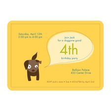 Puppy Party Custom Personalized Birthday Party Invitations