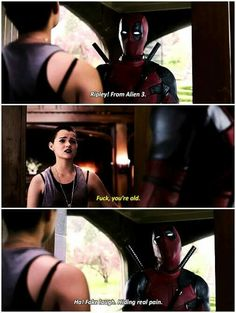 Ha! Fake laugh. Hiding real pain. | Deadpool