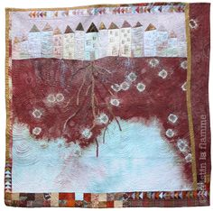 """Rooted VII: Aquifer"" art quilt by Kristin La Flamme"