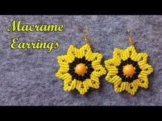 Informations About Macrame Earrings / DIY Earring Making At Home / Macrame Earrings Tutorial Pin You Dyi Earrings, Diy Earrings Making, Macrame Earrings Tutorial, Evil Eye Earrings, Earring Tutorial, Fringe Earrings, Bracelet Tutorial, Crochet Earrings, Jewelry Making