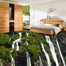 Bodenbelag Schlafzimmer freies verschiffen grünen vegetation wasserfall wasser 3d boden