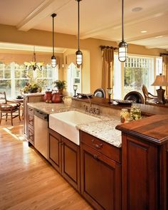 kitchen island two tier with sink | Farmhouse sink – classic designs for modern kitchens