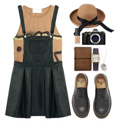 """""""Walk-back"""" by donut-care ❤ liked on Polyvore featuring Faith Connexion, Dr. Martens, Afends, NARS Cosmetics, Olympus, DrMartens and throwbackstyle"""