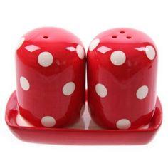 Polka dot tuzluk kırmızı beyaz puanlı