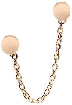 Nolan Jewelry Double Dot and Chain Stud in Gold on shopstyle.com.au