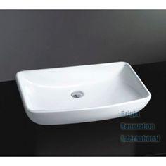 Above Counter Square Ceramic Basin