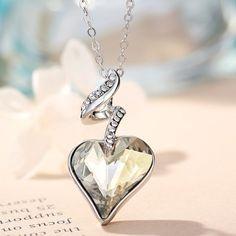Heart Love Chain Necklaces & Pendants