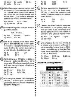 Razonamiento Lógico Matemático : Test 01 - Razonamiento Lógico Middle School, High School, Algebraic Expressions, 5th Grades, Einstein, Teacher, Journal, Activities, Education