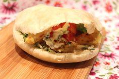 Pain pita et kebab maison