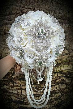 CUSTOM BRIDAL BOUQUET Deposit Only for a by Elegantweddingdecor