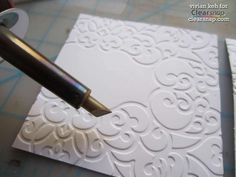 Gorgeous cards made with a wood burning tool and ink! @Clearsnap @WalnutHollow