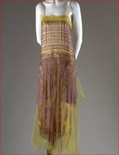 Callot Soeurs, Evening Dress, French, c. 1925. (View 1)