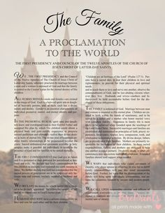 "Personalized ""The Family: A Proclamation To The World"" from Etsy - $8.99"
