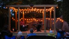 backyard stage: Dad is going to build us one for weekend get togethers with our musical friends :-) Can't wait