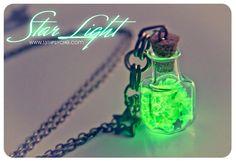 Glow in the dark. Glowing Star light Glass Bottle by 13thPsyche
