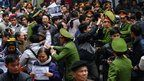 Vietnam breaks up anti-China protests