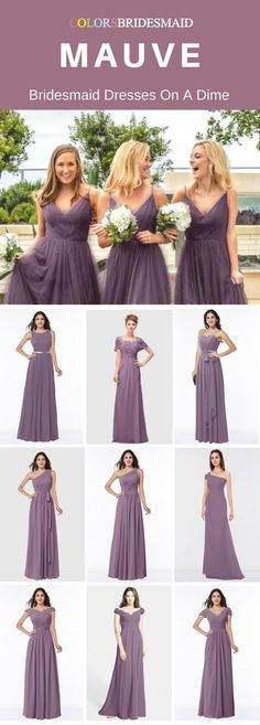 These mauve long bridesmaid dresses are made of high quality chiffon fabrics and can be custom made to all sizes including plu size. They are mostly sold under 100. What affordable bridesmaid dresses are they!