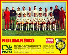Bulgaria team group for the 1974 World Cup Finals.