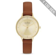 Skagen Anita Leather Strap Watch, 30mm