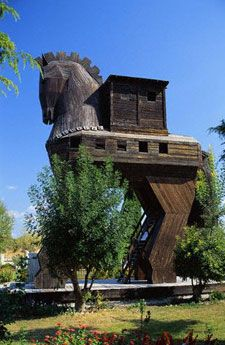 The Trojan Horse- House in Canakkale. Occupied by Greeks no doubt