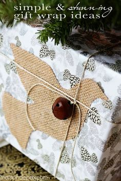 Beautiful, creative, and thrifty gift wrap ideas via maisondepax.com