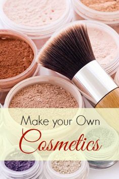 Home Made Cosmetics. Learn how to make foundation, blush, mascara and eyeliner from natural, organic ingredients. It can save you money and reduce toxins!
