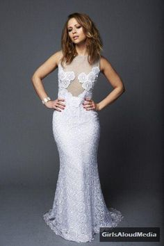 Kimberley Walsh in Jacques Azagury.