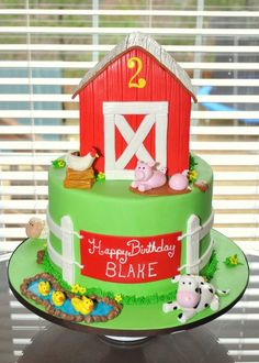 Barn Cake - by hopessweetcakes @ CakesDecor.com - cake decorating website