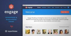Download and review of Engage - WordPress, BuddyPress, bbPress Theme, one of the best Themeforest BuddyPress themes