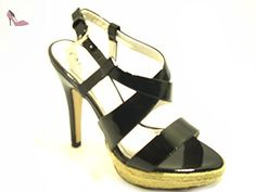CAFèNOIR  Sandalo Tacco Na002 /Na802, Sandales femme - noir - noir, 37 EU EU - Chaussures caf noir (*Partner-Link)