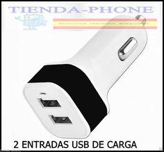 Cargador de Coche para Apple Apple iPhone 5S 5 S Blanco 2 USB Doble Dual Movil *