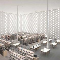 Kanazawa Umimirai Library: Location: Kanazawa, Ishikawa Prefecture, JapanYear of…