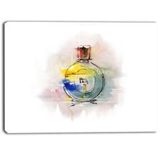 DesignArt Perfume Bottle Contemporary Graphic Art on Wrapped Canvas Size: