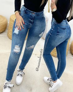 hem jeans zipper pants rosewew - Women Skinny Jeans - Ideas of Women Skinny Jeans Cute Ripped Jeans, Ripped Jeans Outfit, Dark Jeans, Plus Size Leather Pants, Best Plus Size Jeans, Best Jeans For Women, Perfect Jeans, Cute Casual Outfits, Boyfriend Jeans