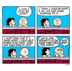 Deep in thought with Charlie Brown.