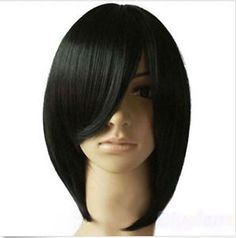 Black Grail Charming Short Straight Party Cosplay Women's Hair Wig +wig hairnet