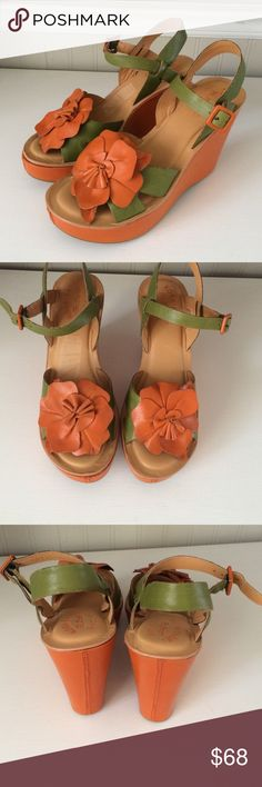 """Kork-ease wedge sandals Love these shoes!  Excellent condition.  Heel height is 4 1/2"""" Kork-ease Shoes Wedges"""