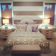 gorgeous striped bedroom