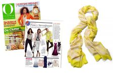 The Palm Spring Scarf – Citrine Floral by Stella & Dot featured in O, The Oprah Magazine (March 2014).